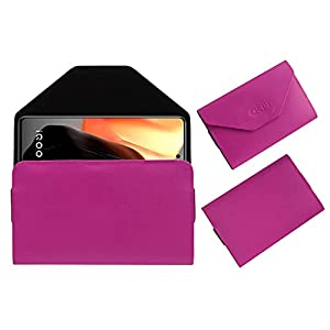 Acm Premium Flip Flap Pouch Case Compatible with Iqoo 7 Mobile Leather Cover Pink