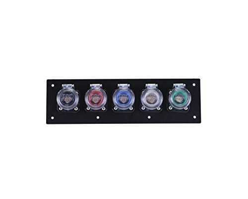 Power Assemblies 5 Position CAM Lock Panel, 400 Amp, 3 Phase 120/208V, Male, 90°, Double Set-Screw connections with NEMA 3R Clear Snap-Back, Series 16 CAM Connectors, Power Distribution Panel ()