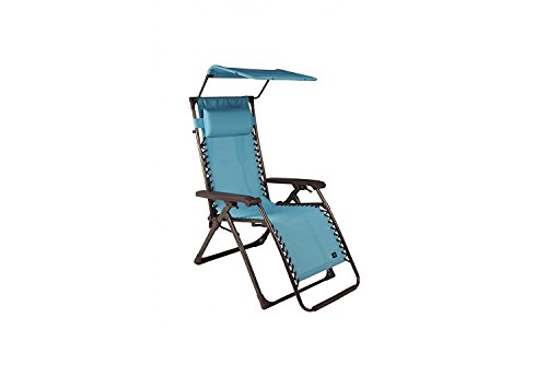 Bliss Hammocks Aluminum Gravity Free Recliner w/Backpack Straps/Canopy Mist - Bliss Tree Straps Hammocks