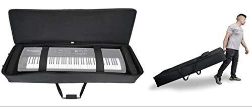 Rockville Rolling Bag Keyboard Case w/Wheels+Trolley Handle For ROLAND RD-300SX