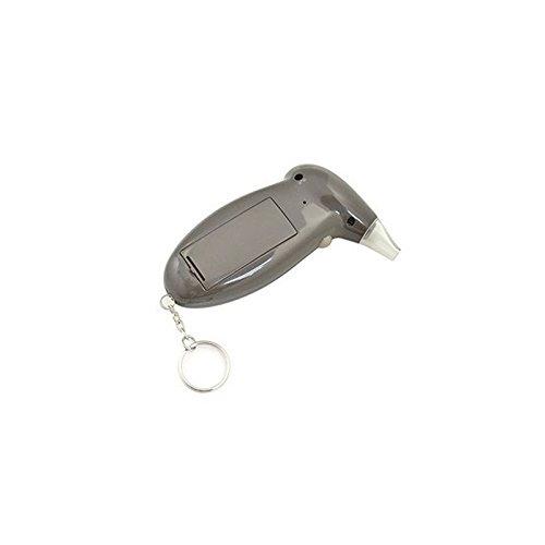 FidgetFidget Breath Alcohol Tester Digital LCD Police Analyzer Keychain Red Backlight Display