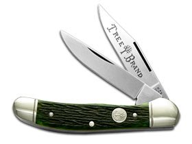 BOKER TREE BRAND Jigged Green Bone Copperhead Pocket Knife Knives