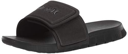Hurley Men's Fusion 2.0 Slide Sandal, Black, 10 M US
