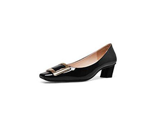AJUNR alta scarpe di 5cm ad nero scarpe Unico 39 partito testa Donna di Alla Moda Wild luce tacco Sandali Da r6aTnrq