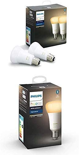Philips Hue 3 Ampoules LED Connectées White Ambiance E27 Compatible Bluetooth, Fonctionne...