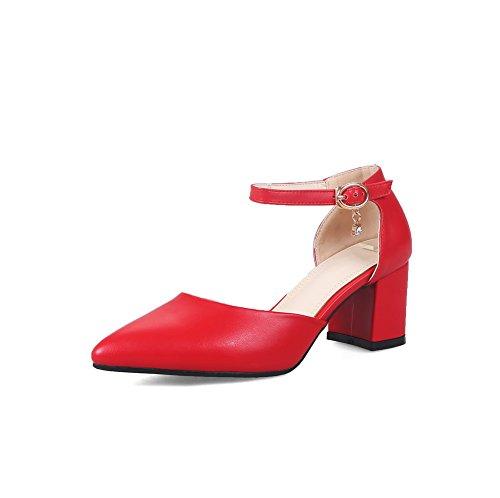 Zeppa Donna 35 red Sandali An Rosso Con Eu BOUE7n