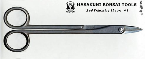 (0003)Masakuni bonsai tool Bud Trimming Shears by Masakuni