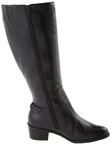Women's Leather 5 Regular Black New M 9 Cradles Black boots Walking Curly Shaft Softy Zxq85Pnw