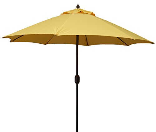 MJJ Sales 11ft Aluminum Market Umbrella-Yellow