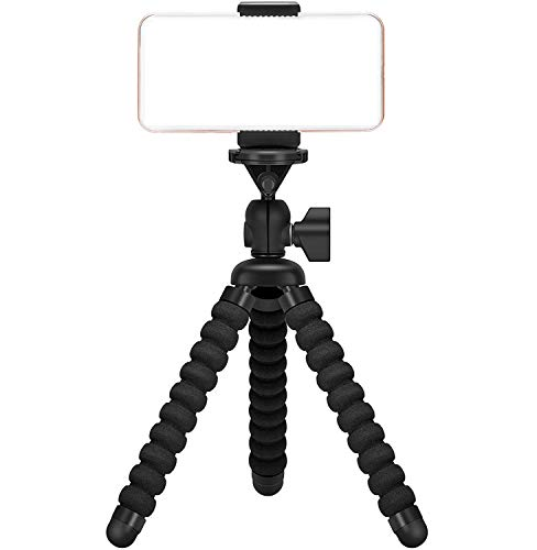 Ailun Digtal Camera Tripod Mount Stand Camera Holder Compatible with iPhone X Xs XR Xs Max 8 7 7 Plus Digtal Camera Galaxy s10 plus S9+ S8 S7 S7 Edge Camera and more Black