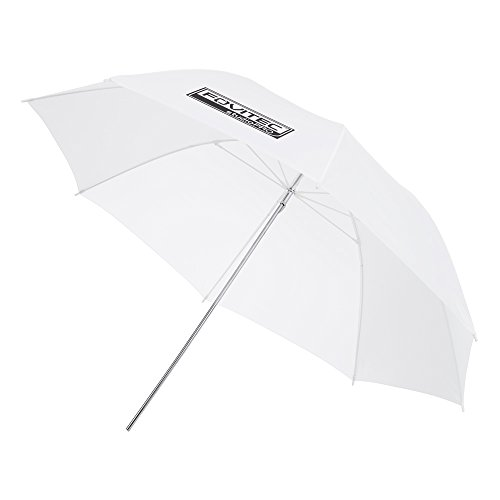 Fovitec - 1x 43 inch Translucent Photography & Video Reflector Umbrella - [Reinforced Fiberglass][Easy Set-up][Collapsible][Durable Nylon]