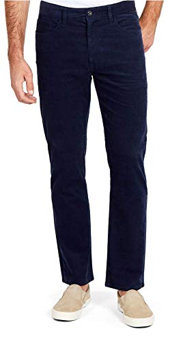 Nautica Men's 5 Pocket Stretch Corduroy Pant, Navy, 38W 32L