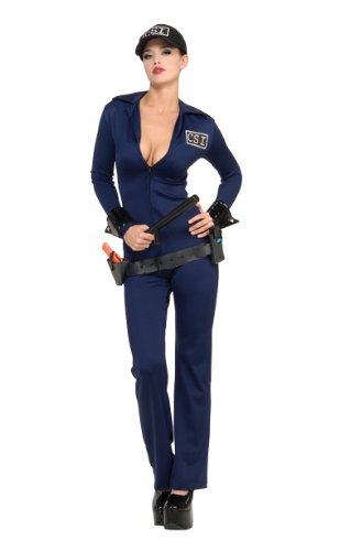 Secret Wishes  Costume Naughty Criminal Investigator Costume, Blue, (Police And Criminal Costume)