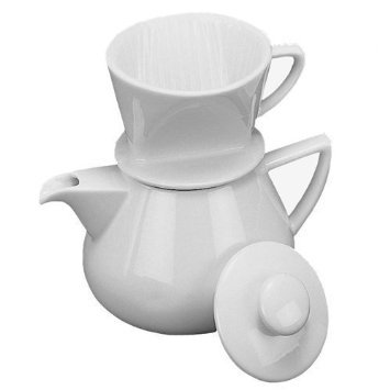 Coffee Maker - Drip with Pot, White Porcelain 19oz. by Accessories