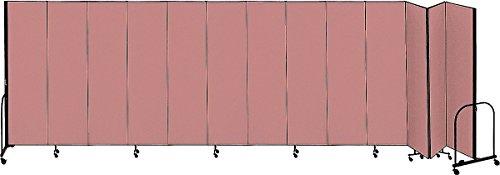 (Screenflex - CFSL5013 MAUVE - 24 ft. 1 in. x 5 ft, 13-Panel Portable Room Divider, Mauve)