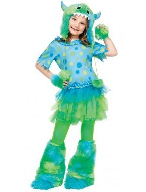 (Fun World girls Big Girls' Monster Miss Costume Large)