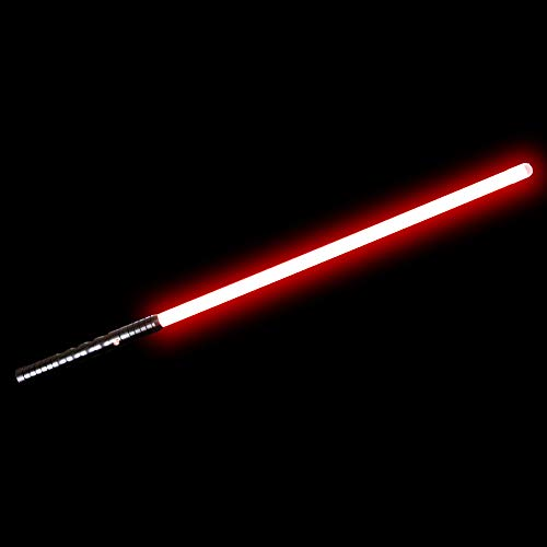 (YDD Dueling Light Saber, Series Lightsaber, Realistic and Flashes,USB Charging,Detachable(Black Hilt Red Blade))