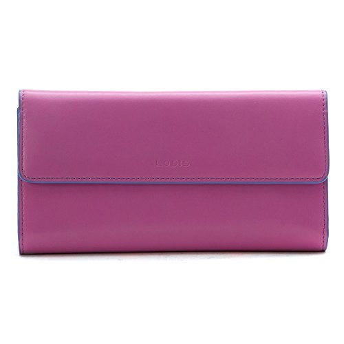 Lodis Audrey Checkbook Clutch (One Size, Rose/Lilac)