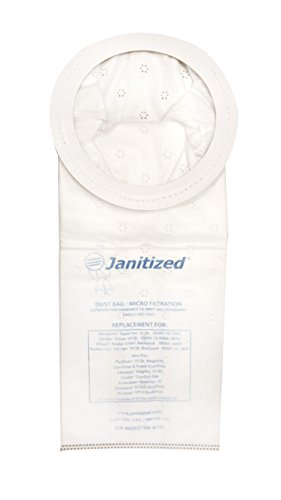 (Janitized JAN-MOSQ10H-4(10)-EA Premium Replacement Commercial Vacuum Bag, Mosquito SuperVac, OEM# 25601, FXL12907, 273511, 10-1043, 15-1803, 10-0006-HEPA, 1