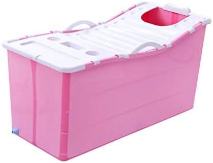 バスバレル折り畳み式の肥厚成人した子供風呂バレル子バスタブホーム浴槽風呂バレル (Color : Pink)