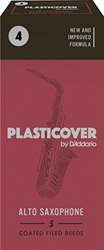 Rico Plasticover Alto Sax Reeds, Strength 4.0, 5-pack