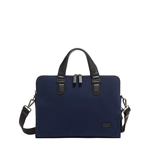 TUMI - Harrison Seneca Laptop Slim Brief Briefcase - 15 Inch Computer Backpack for Men and Women - Navy - Large Laptop Brief