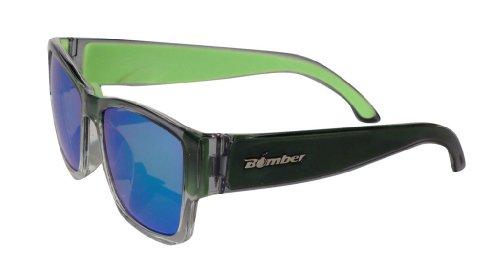 (BOMBER GOMER-BOMBS 2-TONE SMOKE Frame GREEN MIRROR Lens 4 base 54mm Sunglasses)