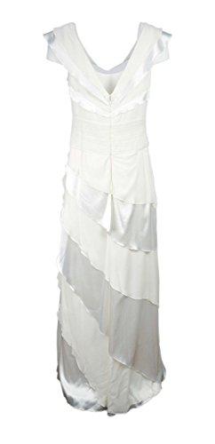 Tadashi Shoji $598 Ivory Evening Dress 100% Silk Size 12