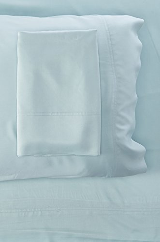 rom Bamboo Solid Sheet Set, Blue, King ()