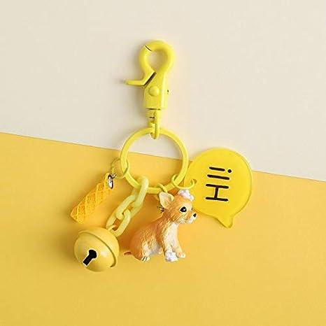 Amazon.com: GoldLock 1Pcs Gift Cute Resin Dog keychain Car ...