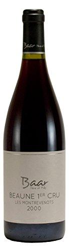 Beaune 1er Cru Les Montrevenots 2000 - Besonders edler & trockener Pinot Noir Rotwein aus Burgund, Frankreich