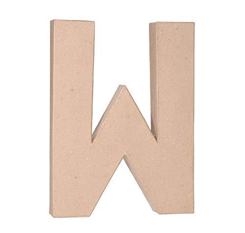Darice 2861-W Paper Mache Letter 12Inx1.5In