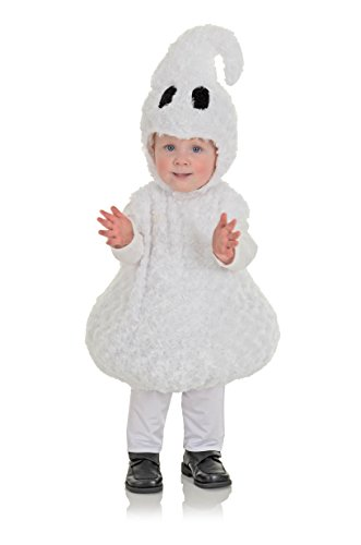Underwraps Toddler's Halloween Ghost Belly Babies Costume, White, Large (2-4T) -