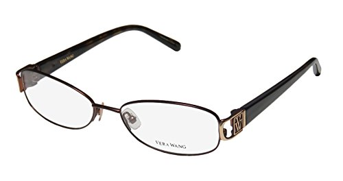 Vera Wang V093 Womens/Ladies Designer Full-rim Spring Hinges Eyeglasses/Spectacles (51-16-133, Brown / Tortoise)