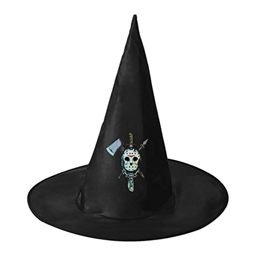 Ghost Mask Freak Wizard Witch Hat Halloween Accessory Unisex Masquerade Cap - Easy Freak Show Costumes