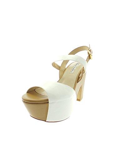 Luciano Barachini - Sandalias de vestir para mujer Bianco/Beige