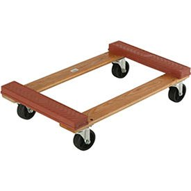 Hardwood Dolly - Rubber Bumpered Ends Deck, 30 x 18, 1200 Lb. ()