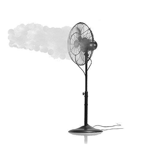 - Updated Fan Misting Kit for a Cool Patio Breeze - Leak Blocker Added, Turns Heat Down by 20 Degrees, Easy On The Wallet, Portable, Connects to Any Outdoor Fan!