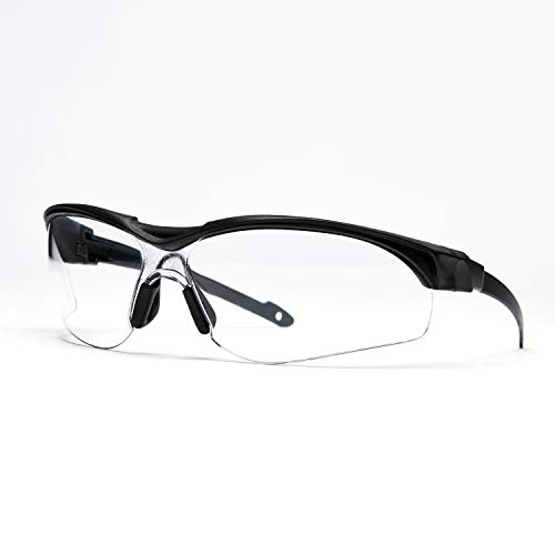 Pro For Sho Safety Glasses - Paper-thin Temple Designs for Long Lasting Comforts, Perfect Fit Under Earmuffs - Anti Fog, Scratch Proof, UV Protection