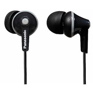 Panasonic Rphje125/black Ergofit In-ear Headphones Earphones Rp-hje125e-k New Great Gift Free Shipping Ship Worldwide by Panasonic