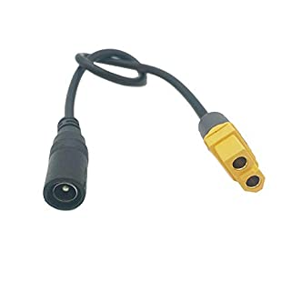 Connector & Cable & Wire - 2pcs Universal XT60 to DC 5.5/2.1mm Female Adapter Power Cable for Fatshark Skyzone Aomway Goggles