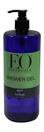 EO Essentials All Natural Shower Gel, Mint and Citrus, 32 Ounce