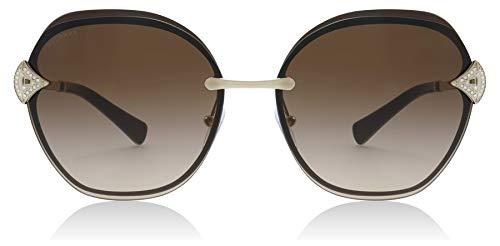 Bvlgari BV6111B 203413 Gold/Brown BV6111B Square Sunglasses Lens Category 3 ()