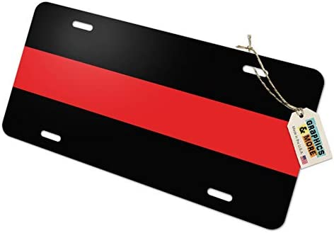 Firefighter Vanity Metal Novelty License Plate