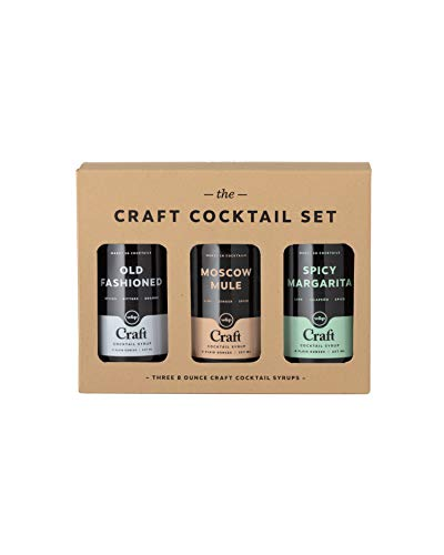 (W&P Craft Cocktail Syrup Set, Old Fashioned, Moscow Mule, & Spicy Margarita, Bar Collection, Craft Cocktails, 3 Bottles, Variety Pack, 8 Ounces)