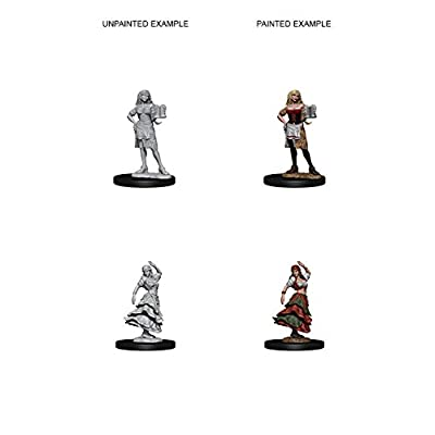 Pathfinder Deep Cuts Unpainted Miniatures: Wave 4: Bartender/Dancing Girl: Toys & Games
