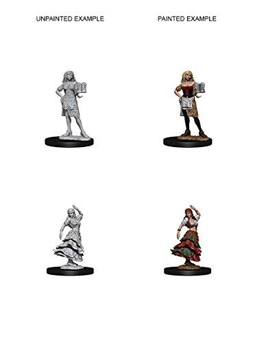 Dungeons /& Dragon D/&D Deep Cuts Miniatures Bartender//Dancing Girl WZK72588