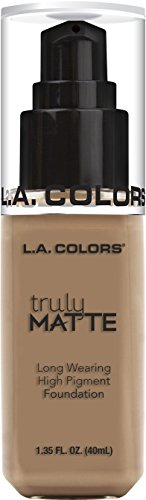 L.A. Colors Truly Matte Foundation, Cool Beige, 1 Ounce