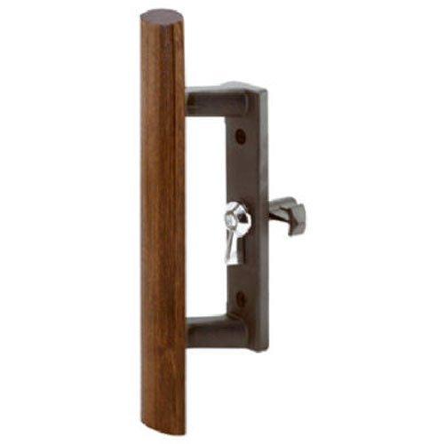 Slide-Co 141866 Sliding Door Wood Handle Set, Black/Diecast (Sliding Patio Door Handle Wood)