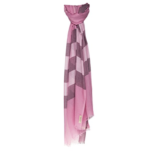 Burberry Unisex Check Modal Cashmere and Silk Scarf - Burberry Pink